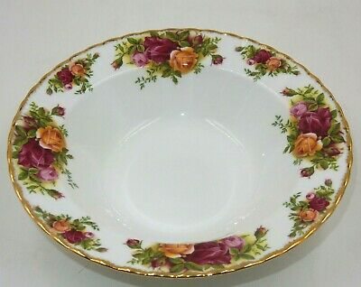 "Royal Albert Old Country Roses 8"" Soup Bowl Bone China Gold Trim - England"