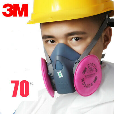3M 7502  Spray Paint/Dust Mask Respirator Half Facepiece + 2097 P100 Filters NEW