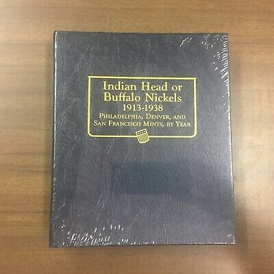 Whitman Classic Coin Album # 9115 For Buffalo Nickels From 1913-1938