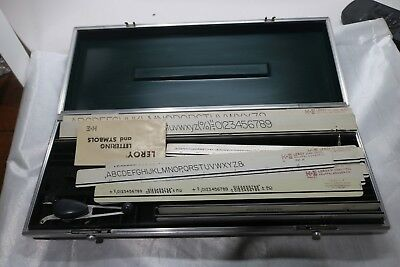 LEROY II Lettering Set K&E Keuffel & Esser Drafting Tools in Hard Carrying Case