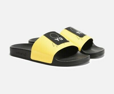 1ffa9bcf7753 New Adidas Y-3 ADILETTE Slides Sandals Yohji Yamamoto Yellow Black MEN S  Size 8