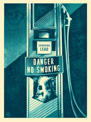Danger No Smoking by Shepard Fairey - Signed & Numbered Obey Giant Screen Print
