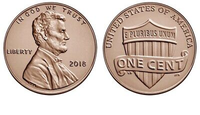 5 NEW Wonderfull Cents 2018 P Lincoln Shield Cent Brilliant Uncirculated)