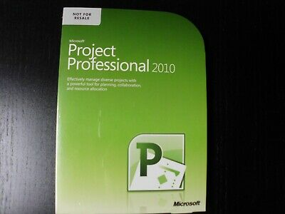 New Microsoft Office Project Professional 2010 Full Version - 2 PC Sealed