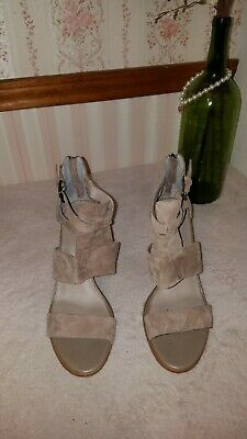 29631caeba6 HINGE CORA WOMEN S taupe suede ankle strap sandals sz. 13 M -  50.70 ...