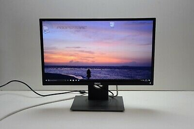 "DELL 24"" P2417H Black LCD IPS Full HD PC MONITOR GRADE A  HDMI DP VGA +cables"