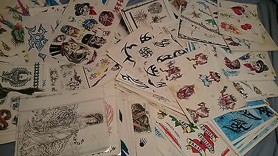 Random packs of 20 sheets of Vintage tattoo flash 80's - 90's