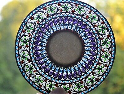 Marius Hammer Plique a Jour Sterling Silver and Enamel Saucer Missing it's Mate
