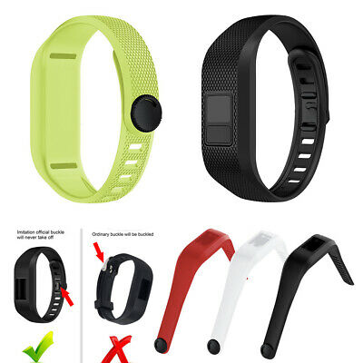 Wrist Band Silicone Watch Strap Snap Fastener Replacement For Garmin Vivofit 3
