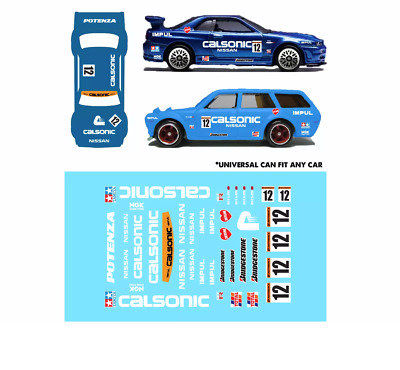 Eadc Custom Water Slide Decals Nissan Skyline R34 Calsonic 510 Wagon Hot Wheels