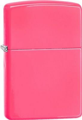 "Zippo 28886, ""Neon Pink"" Finish Lighter, Full Size, ***Extra Flints/Wick***"