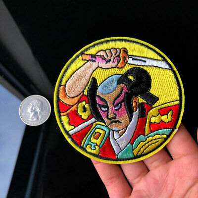 Japanese Ancient Warrior Patch Sew Iron on Badge Sewing Applique Fabric Crafts