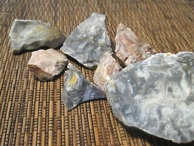 USA Ozark CHERT FLINT MOZARKITE (1 pound) PIECES rough raw stone rock CABBING