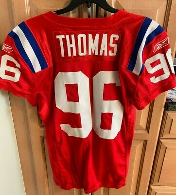 pretty nice 6d47c d0337 ADALIUS THOMAS GAME Worn 2009 New England Patriots Red Throwback Jersey AFL  50th