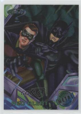 1995 Fleer Metal Batman Forever #89 Red Alert Non-Sports Card 0c4