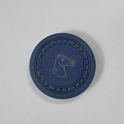 10 Antique Gambling Chips Blue mold designs Horse Head SMALL & LARGE RECTANGLE