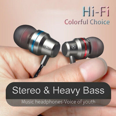 Wired Earbuds Noise Cancelling Stereo Earphones Heavy Bass Sound Sport Headset4H