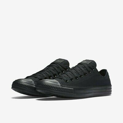 c676df7915f8 Converse M5039  Unisex Chuck Taylor All Star Low Top Black Monochrome  Sneakers