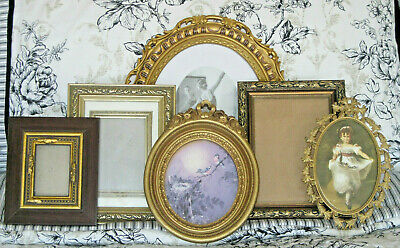 Ornate GOLD COLOR  PICTURE FRAMES  LOT OF 6