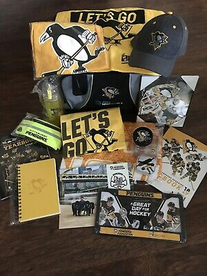 34432fa386047b 16PC Pittsburgh Penguins Charity Bag 2018-2019 + Marcus Pettersson Signed  Puck