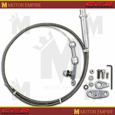 TRANSMISSION KICKDOWN THROTTLE Cable Braided GM Turbo TH 350