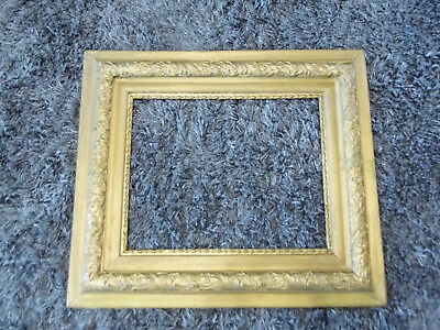 Vintage Ornate Wood Gold Gilt Gesso Picture Frame 26 1/2 x 30 1/2  Fits 16 x 20