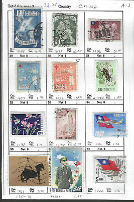 CHINA...# 1038//1322...1951/61...12 Diff...Mint & Used...SCV $32.75