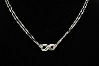 "TIFFANY & CO - Sterling Silver ""Infinity"" Necklace (rm)"