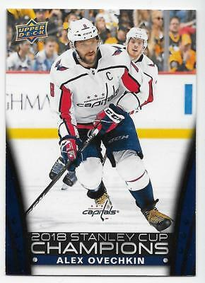 17/18 UPPER DECK 2018 STANLEY CUP CHAMPIONS BLUE /2018 (#1-30) U-Pick From List