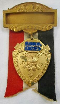 Lancaster PA Delegate WOW Annual Convention Medal Ribbon Badge Pennsylvania (O)