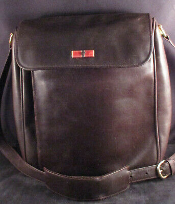 a5c25e53439a GUCCI BROWN LEATHER Vintage Small Messenger Bag Unisex - $350.00 ...