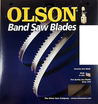 """PACK OF 2 BAND SAW BLADES Olson 93-1/2"""" Blade 93-1/2"""" Long x 3/16"""" Wide 4 TPI"""