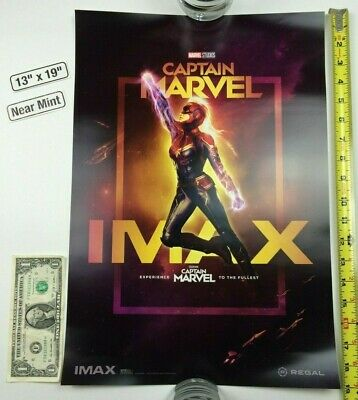 Captain Marvel 13 x 19 Poster Regal IMAX Week 1 Brie Larson Goose 2019