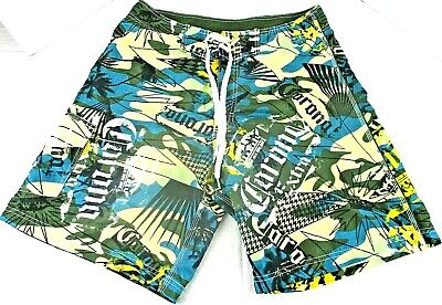 6c99523d96 Corona Extra Mens Board Shorts Swim Trunks Palms Surfing Mesh Lining Size 34