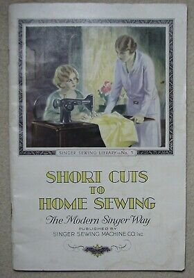"Vintage 1923 SINGER ""Shortcuts To Home Sewing""  Original  Library Book No. 1"