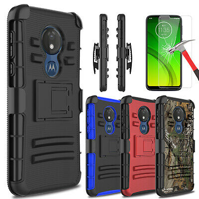 For Motorola Moto G7 Power/Supra Case With Kickstand Belt Clip+Screen Protector