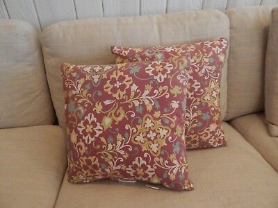 Pair Of Two Fl Outdoor Decorative Throw Pillows Arden