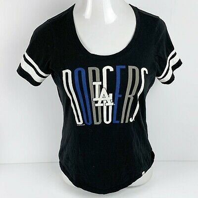 LOS ANGELES DODGERS Womens S MLB Shirt Top Baseball Tee LA 47 Brand Dodger  Blue