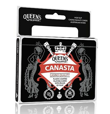 3 X Queen's Slipper Canasta Playing Cards Double Deck Aust Made