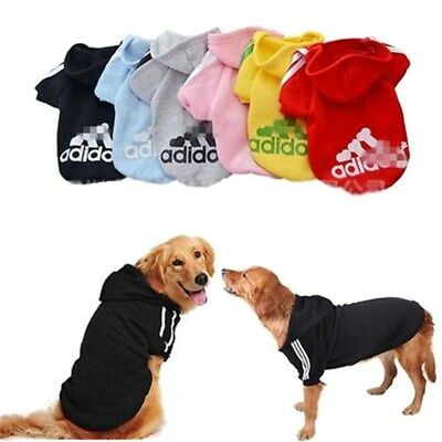 Puppy Pet Dog Cat Clothes Hoodie Coat Winter Warm Sweater Jacket Costume Apparel