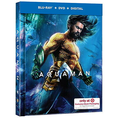 NEW Aquaman 2019 Target Exclusive Limited Edition Blu-ray Lenticular DigiBook
