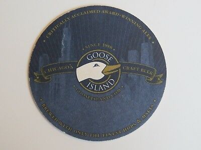 Beer COASTER ~ GOOSE ISLAND Brewery ~**~ Add'l Coasters Only $0.25 S&H Worldwide