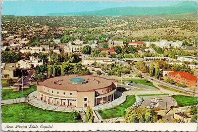 POSTCARD NM SANTA Fe Air View State Capitol and City Vintage