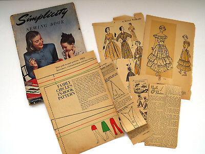 1947 Simplicity Sewing Book for Beginners and Experts Coats Jackets Dresses Baby