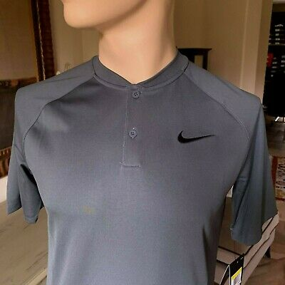 fc0dc3ed NIKE DRY MEN'S Momentum Golf Polo Shirt NWT Gunsmoke / Black SIZE ...
