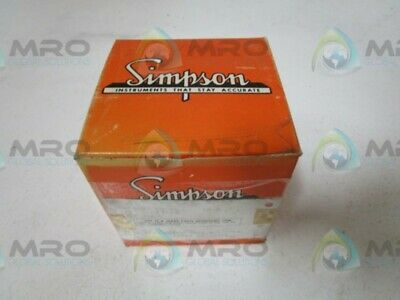 Simpson 17536 Panel Meter * New In Box *