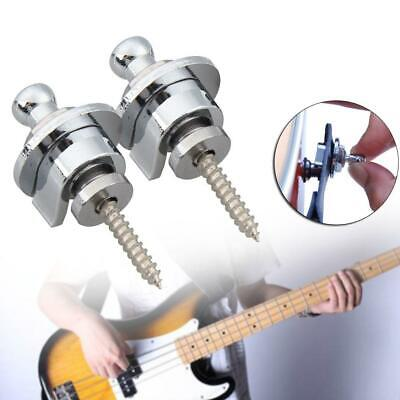 2pcs Straplocks Electric Acoustic Guitar Bass Strap Locks Button Schaller Style.
