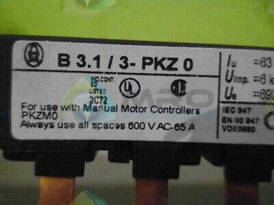 Klockner Moeller B3.1/3-Pkz0 Commoning Link 3-Phase  * New No Box *