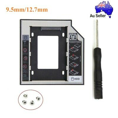 9.5/12.7mm SATA 2nd HDD SSD Hard Drive Caddy Universal in CD/DVD-ROM Optical Bay