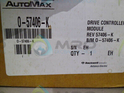 Reliance Electric 0-57406-K Drive Controller Module * New In Box *